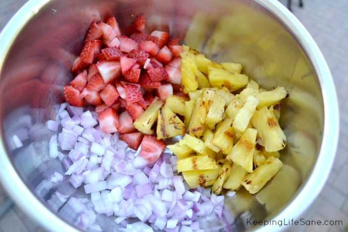 Grilled Pineapple and Strawberry Salad