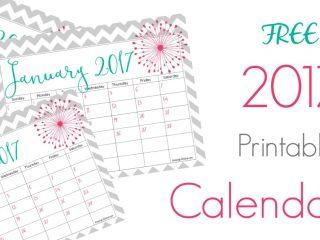 Free 2017 Calendar