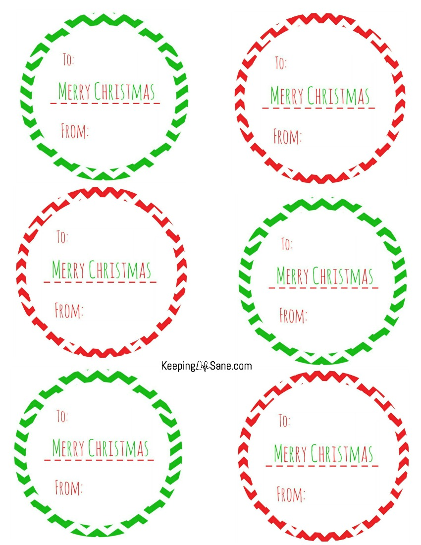 Christmas gift tag labels free