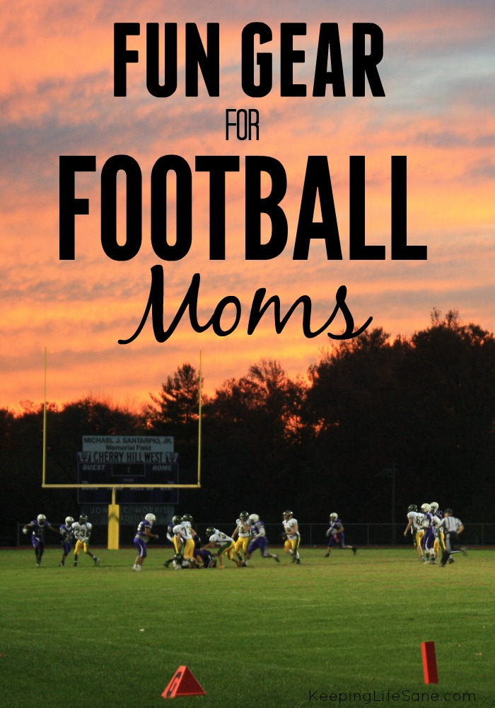It's FOOTBALL TIME! That means that you football moms need to get some football gear to show some support for your boys this season.