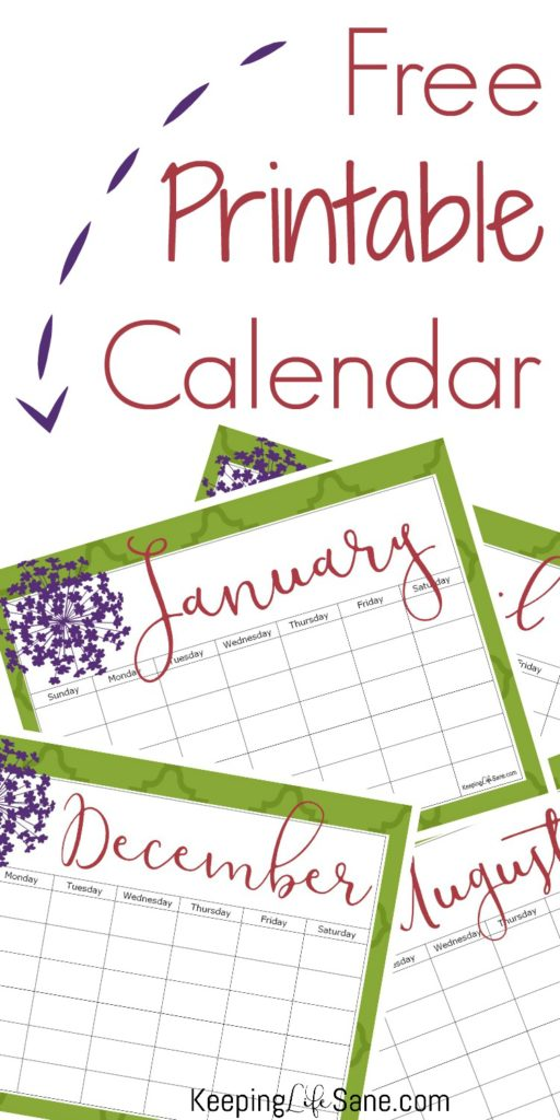 Stay organized this year and get this printable blank calendar for FREE! You can print it out for the entire year or just the months you need.