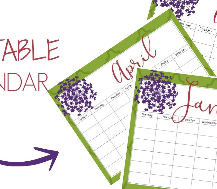 Stay organized this year and get this printable blank calendar for FREE!