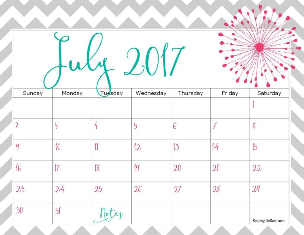 Vintage Calendar 2017 Printable : Free calendar for you to print keeping life sane
