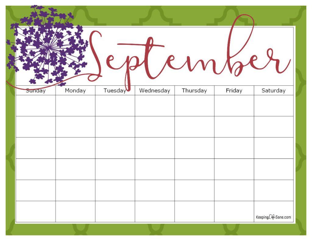 september-blank