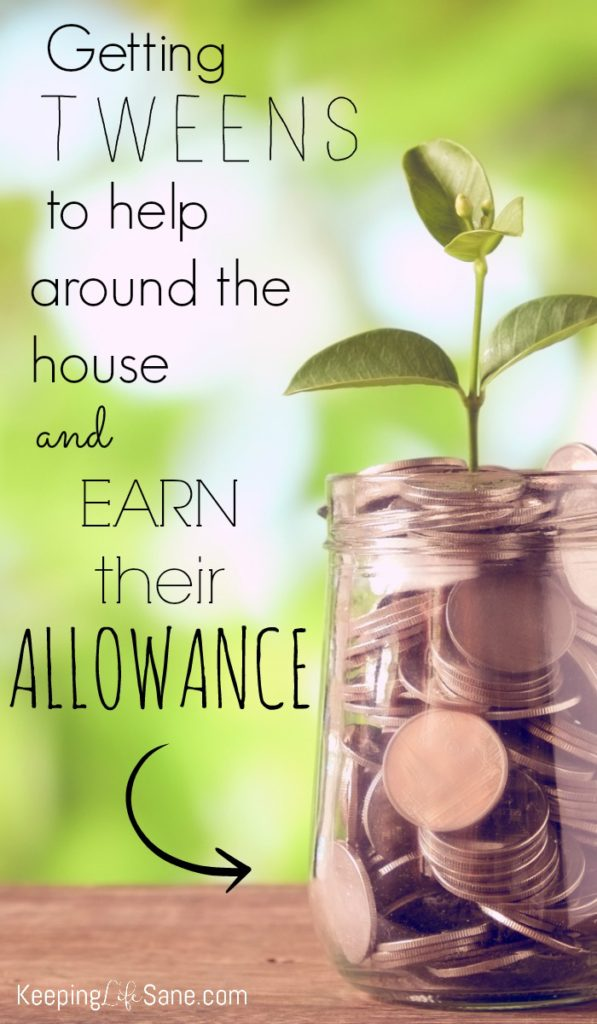 Getting Tweens to Help Around the House (and earn their allowance)