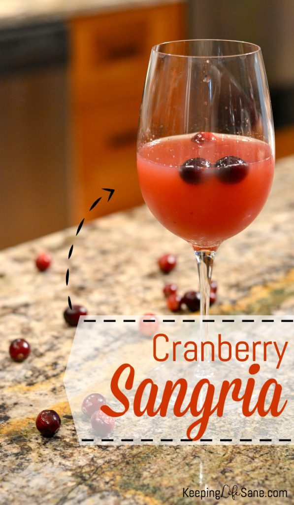 This cranberry sangria is the BEST!! I love that this can be made before the guests arrive.