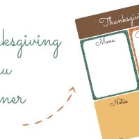 Don't lose your Thanksgiving menu! Print this Thanksgiving Menu Planner out and keep all your Thanksgiving dinner information all in once place.