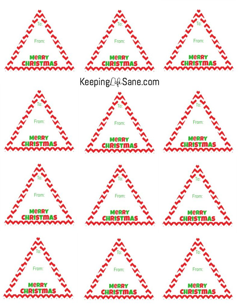 Free triangle printable gift tags keeping life sane free printable gift tags negle Gallery