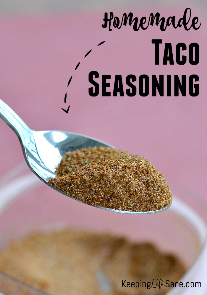 Here's a great homemade taco seasoning that you can mix up and use today. It's great to have on hand when you need a quick meal.