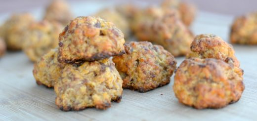 These are the best cheesy sausage balls you'll have this year. They are so easy to make. You have to try them!