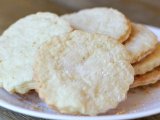 white plate with tea cakes