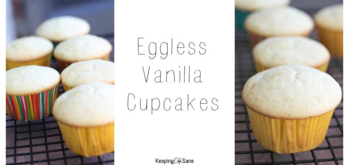 closeup of vanilla cupcakes on a cooling rack