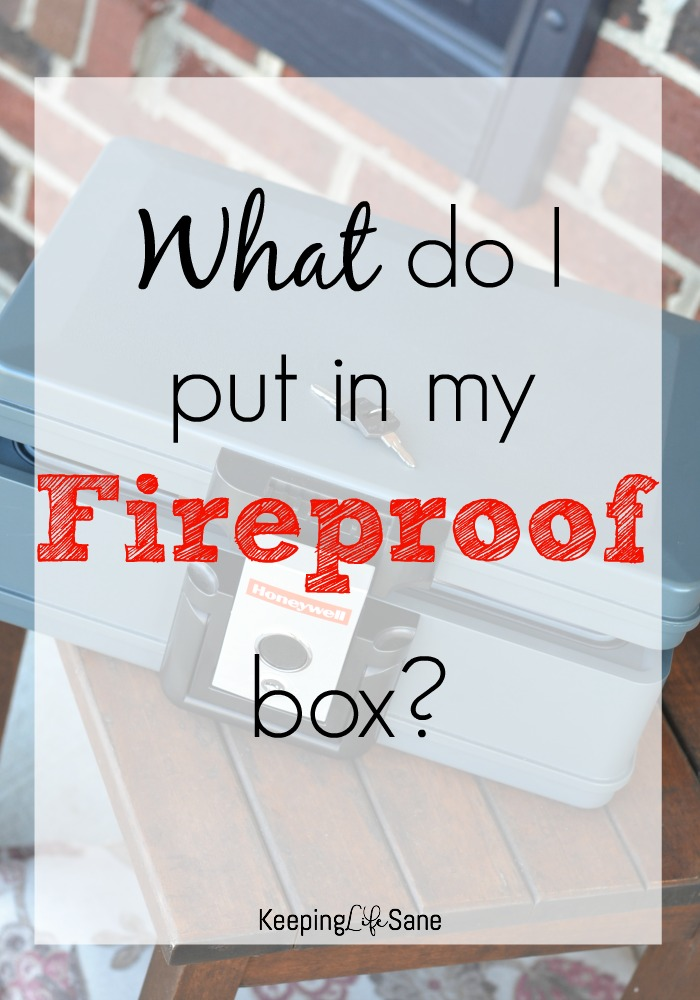 "You may be thinking to yourself, ""What do I put in a fireproof box?"". Here's the perfect list of items you need to keep in there."