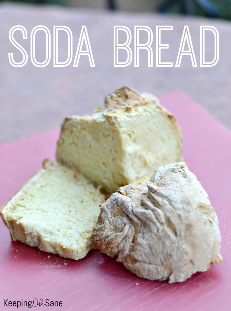I love making soda bread when we're having corned beef and cabbage. Who doesn't love butter on warm bread fresh out of the oven? #sodabread #Breadrecipe #Easybreadrecipe #StPatricksDay #Dinner #Recipe