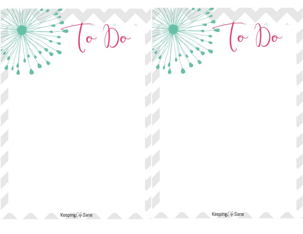 Super Cute To Do List Printable- To keep you organized ...