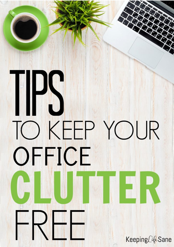 Is your home office a mess? Here are a few simple tips to get things under control and get your home office clutter free.