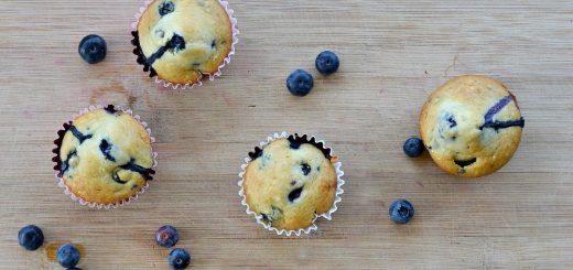 My kids loves these DELICIOUS blueberry muffins. They are perfect for breakfast or a quick after school snack. NO eggs needed.