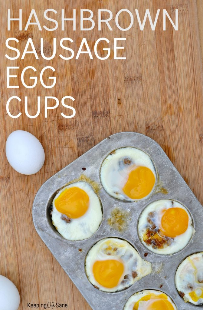 These hash brown sausage egg cups are a FANTASTIC breakfast. They're so easy to make and will keep you and your family full until lunch!
