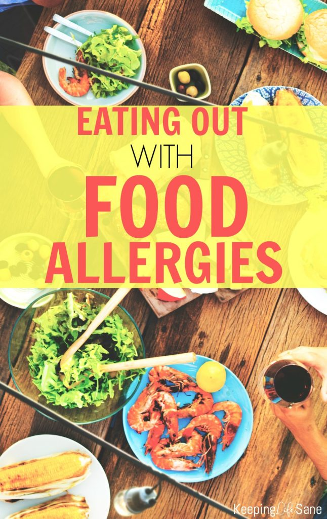 Eating out with food allergies can be tough and challenging. Here are some tips that will help make it a little easier and more enjoyable.