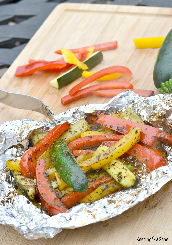 Are you looking for an easy recipe for the grill? You've found it! These grilled peppers and zucchini are the best!