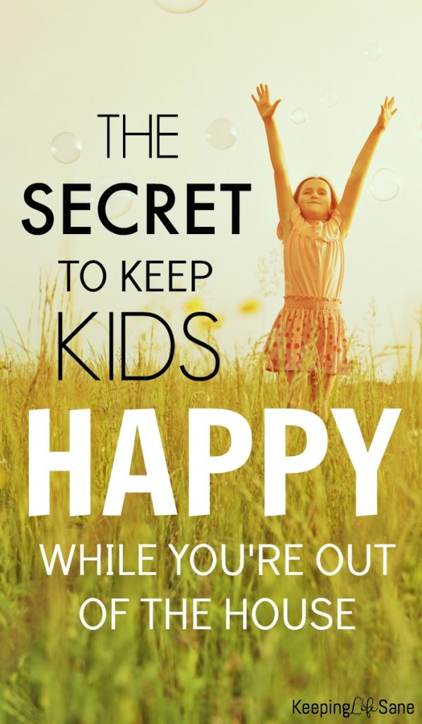Who hasn't been out of the house and one of your kids have a MAJOR meltdown? Here's a simple trick to keep your kids happy while you're out and about.