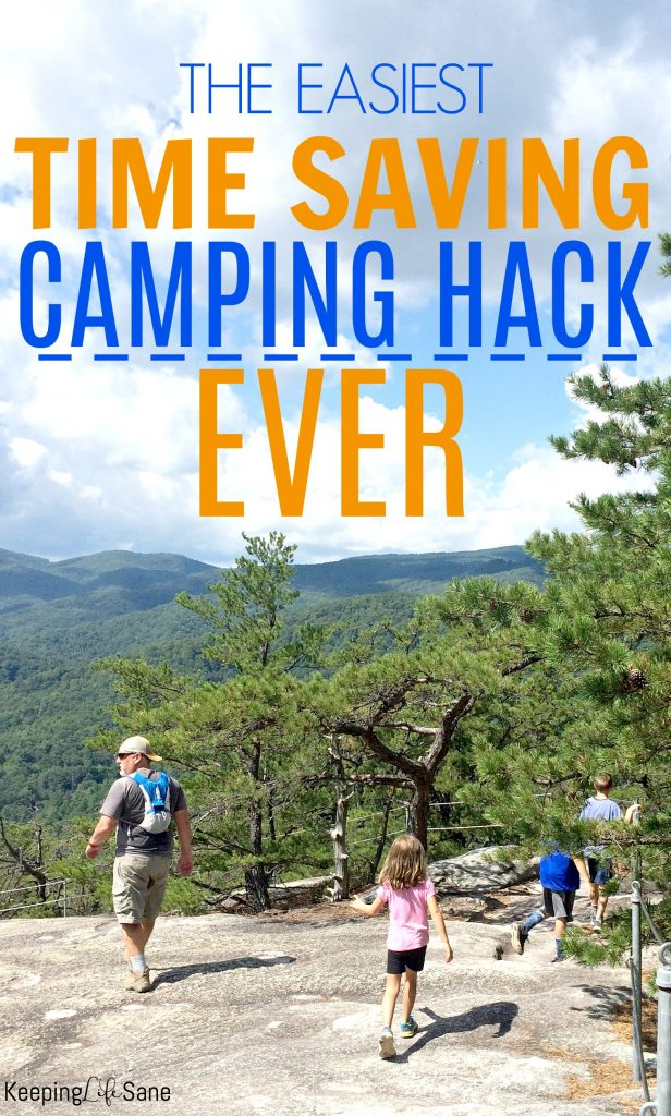 Does your family like to camp? Here's a great camping packing hack that will save you tons of time so you can take those last minute trips! This packing time saver will make your camping trip much easier.