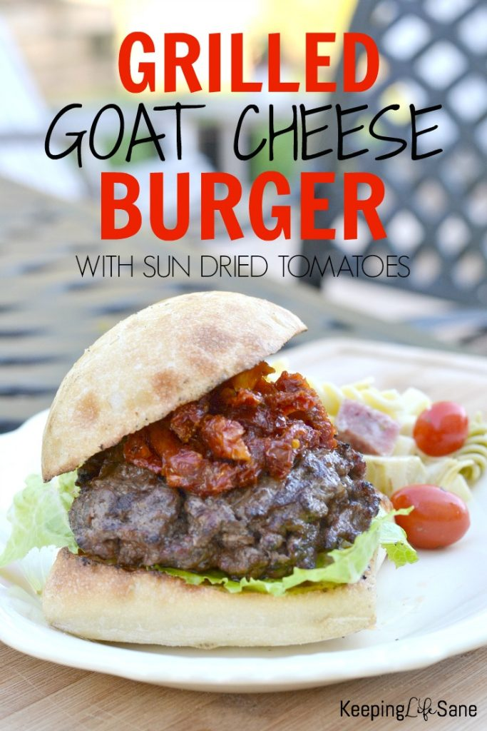 This is a nice variation of a grilled burger. This grilled goat cheese burger is so delicious you won't even need mustard!