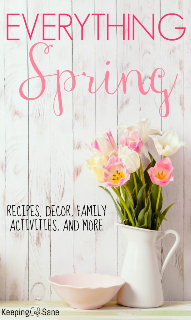Here's everything you need for a GREAT spring. It includes recipes, party ideas, home decor, and fun kid and family activities!