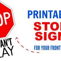 printable stop sign image