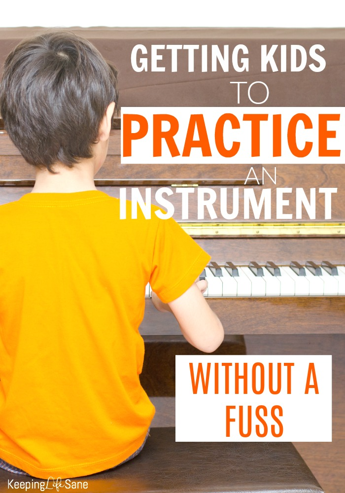 Kids like the idea of playing instrument until they have to practice. Here are some GREAT tips on getting kids to practice an instrument without a fuss.