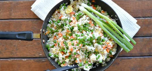 This veggie fried rice is the perfect recipe for a busy school night. It's a super quick dish that takes less than 30 minutes.