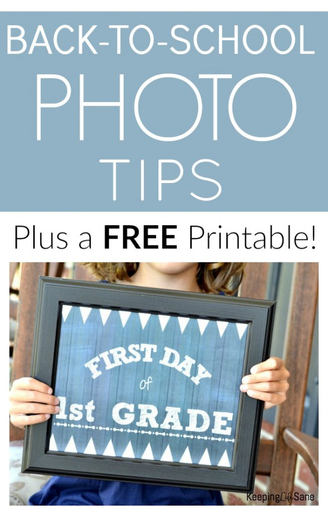Make sure you save this back to school printable sign! It's so cute and you'll love looking back and remembering those school days.