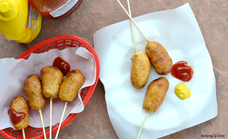 These homemade corn dogs are the BOMB! The best part is that this recipe is egg free! My kids gave them two thumbs up and begged for more.