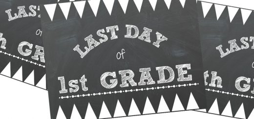 You are going to love this last day of school printable. Just print it out and you have the perfect prop for you last day of school photo shoot.