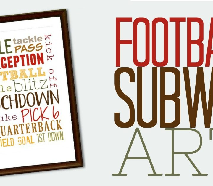Print out this FREE football subway art for the fall. What a inexpensive way to decorate your house for the fall!