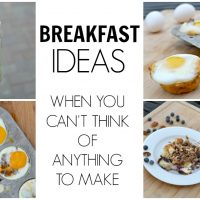 breakfast food collage of burrito, strawberry muffins, blueberry muffins. french toast casserole and egg cup