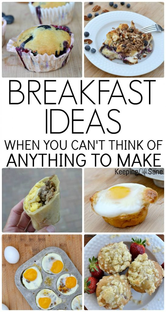 25+ Breakfast Ideas! Do you need a little motivation for breakfast? Here are some great breakfast ideas that are delicious when you're in a rut!
