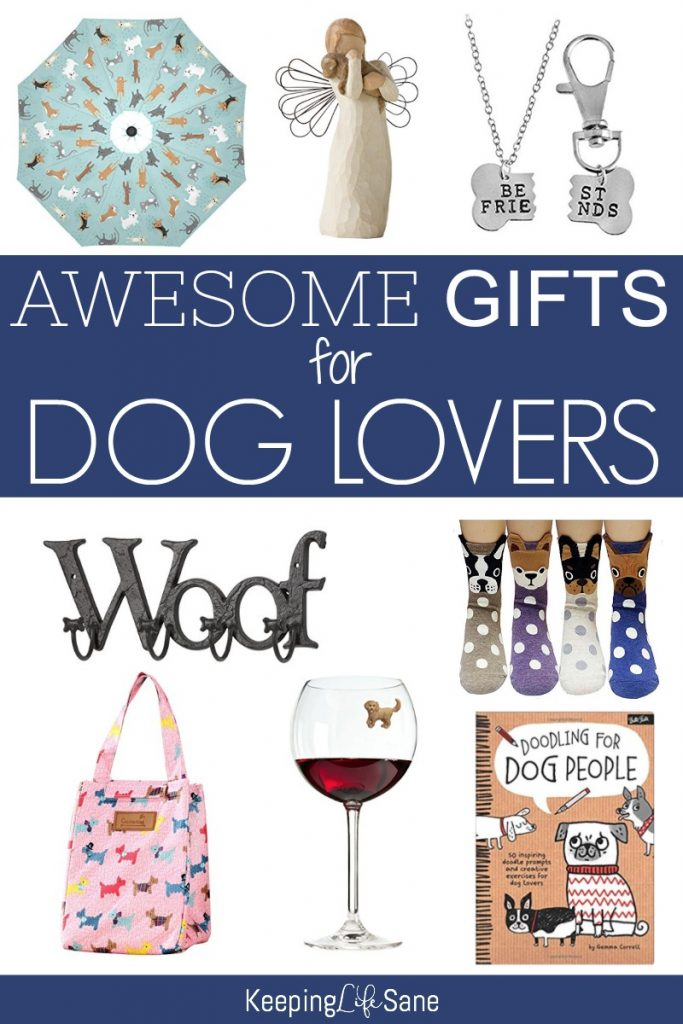 Everyone knows a dog lover! Here's a great gift guide to help you find them the perfect gift. There are some cute ones here.
