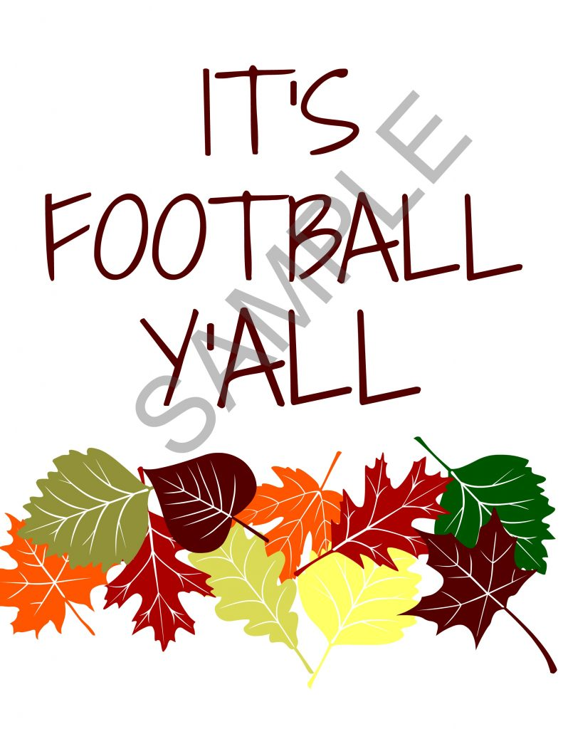 You know you need this super cute football printable this football season. Print this out and cook some pizza and you're ready for the game!