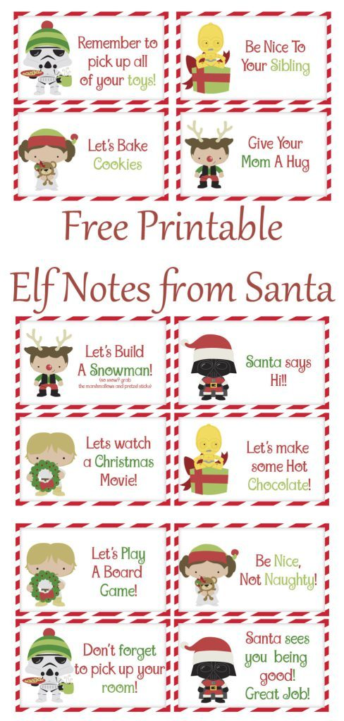 you can print these cute little notecards out for free your elf needs these - Cute Things To Print Out