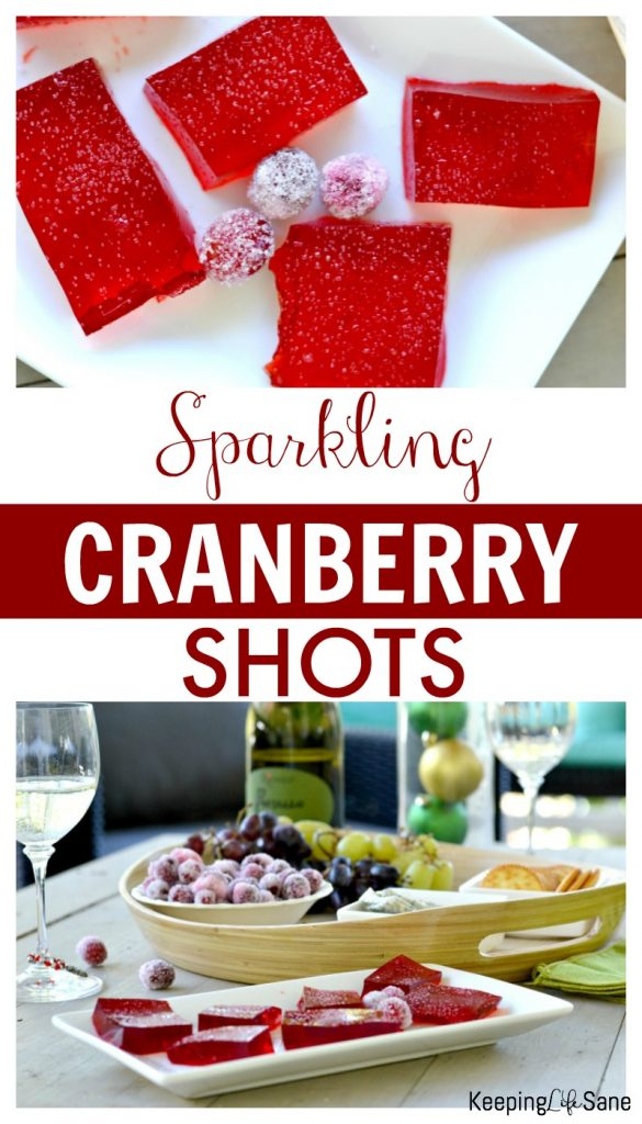 These sparkling cranberry shots are the perfect thing for your next holiday get-together! Can you guess the secret ingredients?