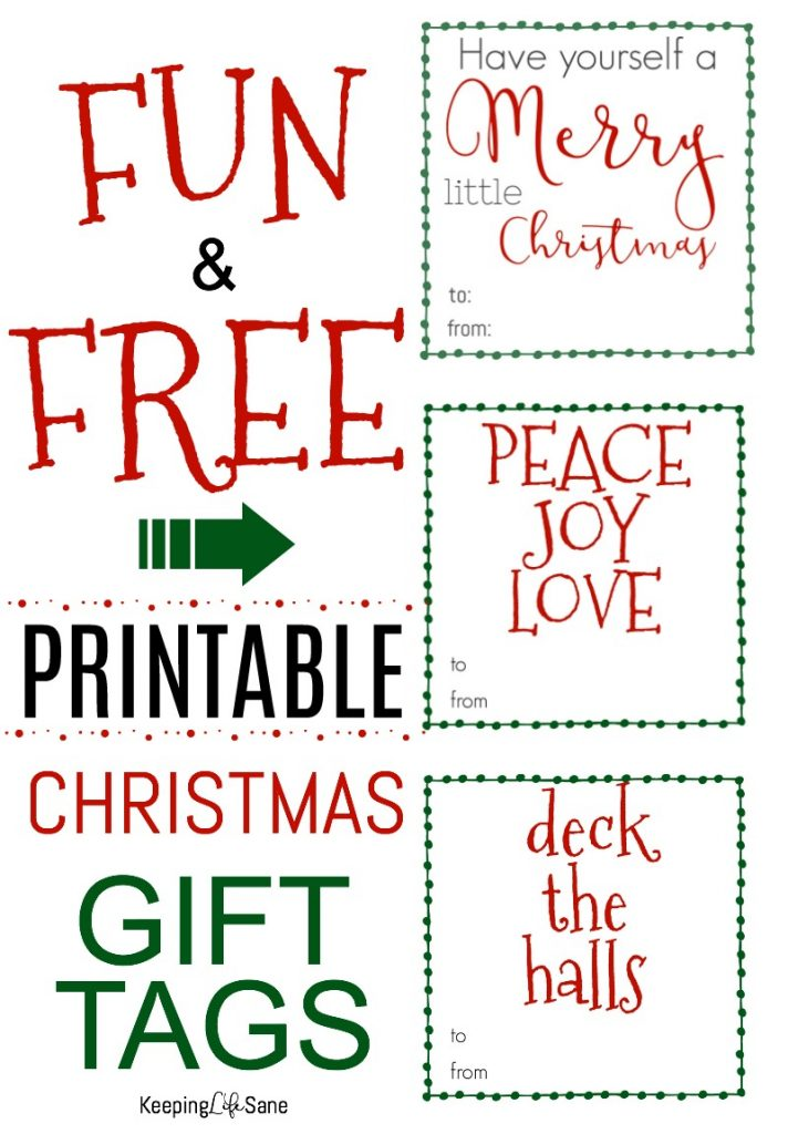 Get these FUN printable Christmas gift tags! You can print them right from your computer at home for FREE. Merry Christmas!