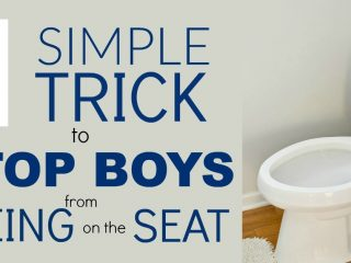 I know you want this simple trick to stop boys from peeing on the toilet seat. I wish I would have done this when potty training.