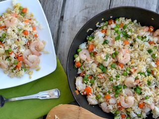 This simple shrimp fried rice is great for a busy weeknight. It's the perfect one pot dish that your entire family will love.