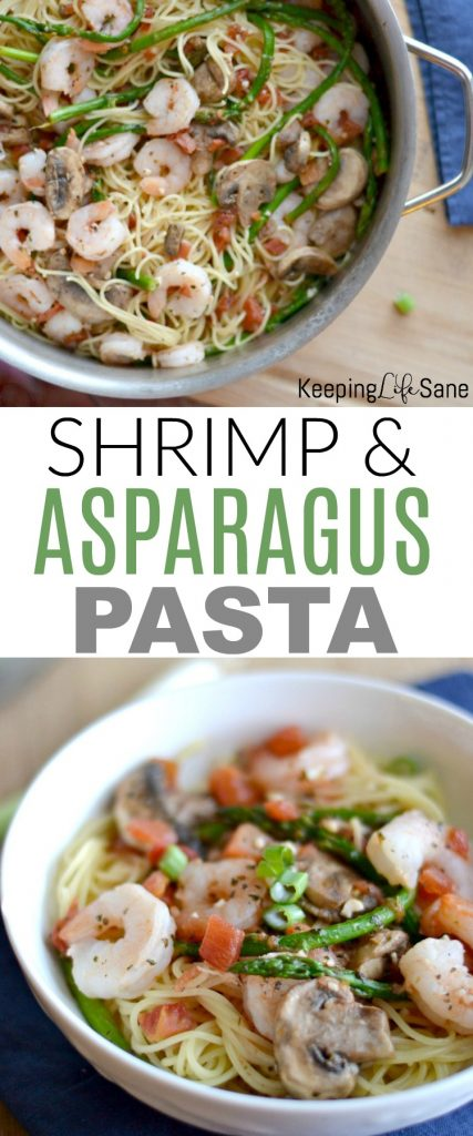 Get this shrimp and asparagus pasta dinner recipe here. This is such an easy meal with tons of flavor. You can be eating in less than 20 minutes.
