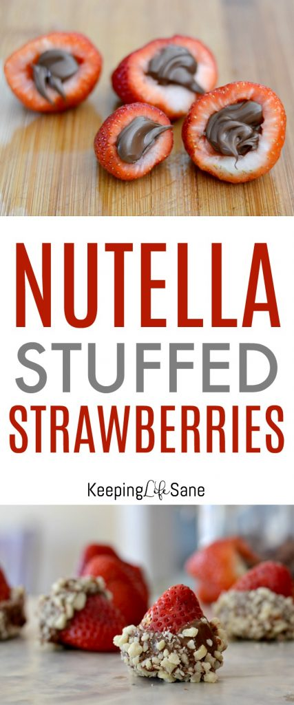 These Nutella stuffed strawberries are so fun to make and eat. They are the perfect no bake dessert that you can make ahead of time.