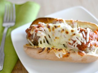 This meatball sub recipe is so easy to make for dinner! It's perfect for those buy nights when you don't have much time to do anything.