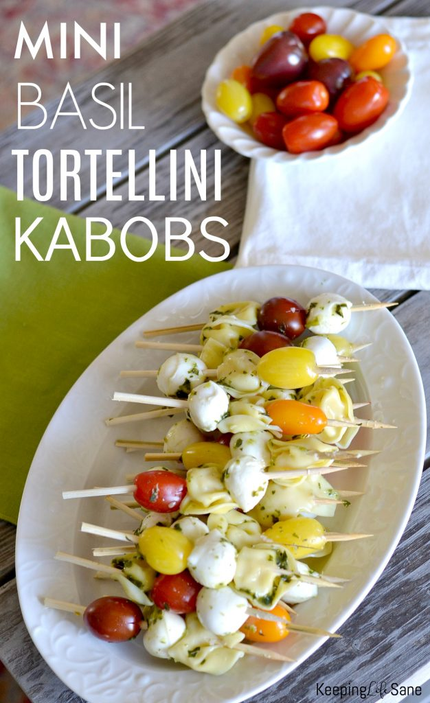 Try making these mini basil tortellini kabobs tonight for dinner. It's such an easy and delicious recipe on a warm summer night.