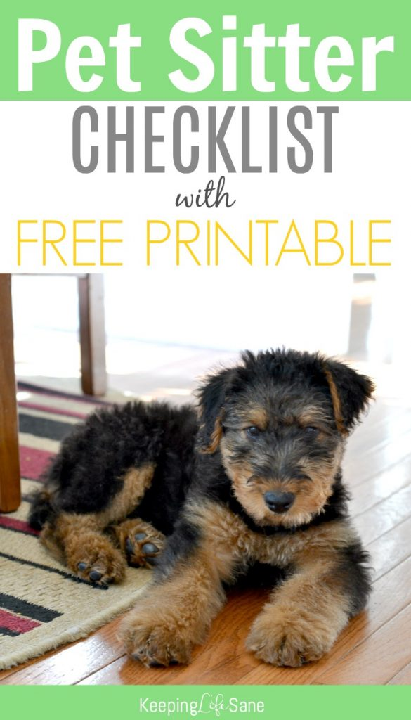 new puppy checklist with free printable keeping life sane