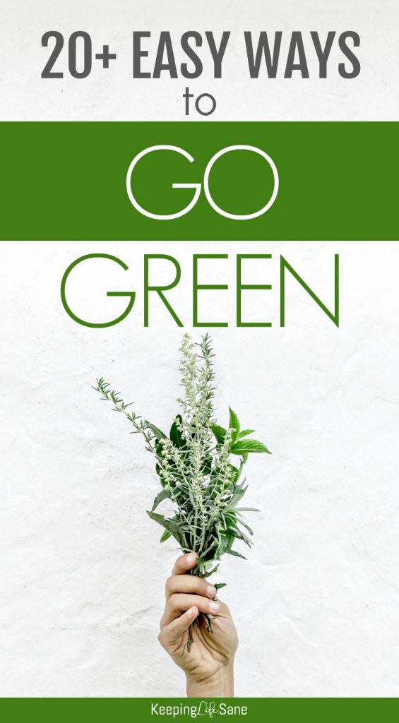 Get these EASY going green at home ideas. These 20+ tips are so simple to implement you'll wonder why you didn't do them sooner.
